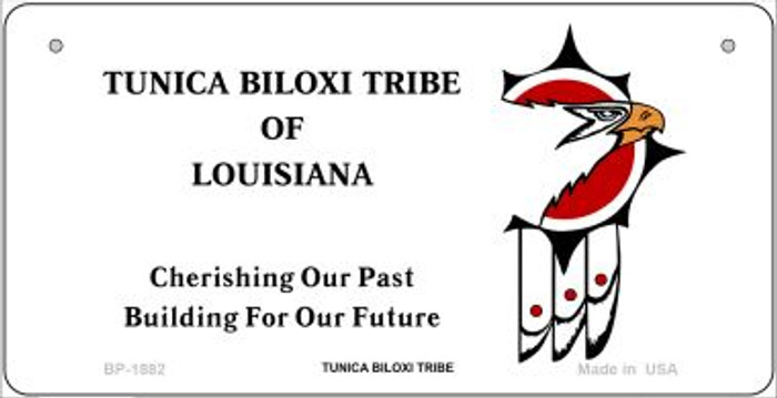 Tunica Biloxi Tribe Novelty Metal Bicycle Plate BP-1882