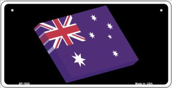 Australia 3-D Flag Novelty Metal Bicycle Plate BP-1920