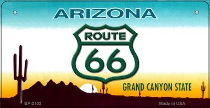 RT 66 Arizona State Novelty Metal Bicycle Plate BP-2102