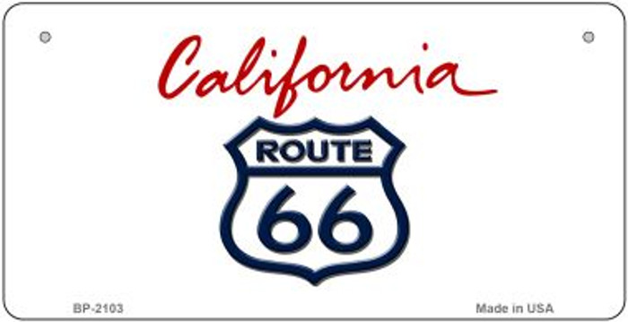 RT 66 California State Novelty Metal Bicycle Plate BP-2103