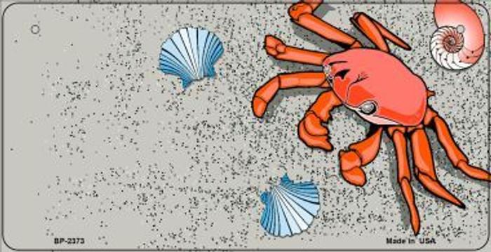 Crab And Seashells Novelty Metal Bicycle Plate BP-2373