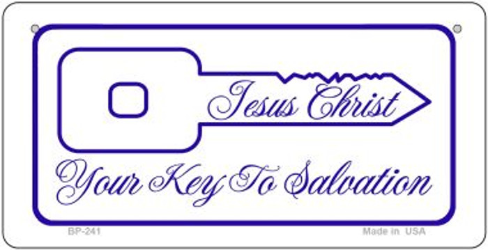 Jesus Christ Key To Salvation Novelty Metal Bicycle Plate BP-241