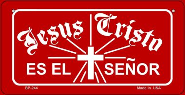 Jesus Cristo Es El Senor Novelty Metal Bicycle Plate BP-244
