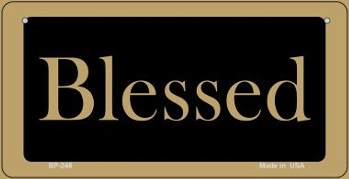 Blessed Novelty Metal Bicycle Plate BP-248
