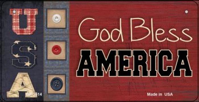 God Bless America USA Novelty Metal Bicycle Plate BP-2514