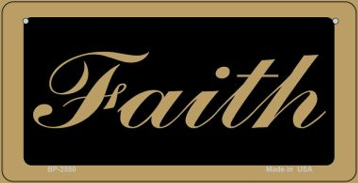 Faith Novelty Metal Bicycle Plate BP-2550