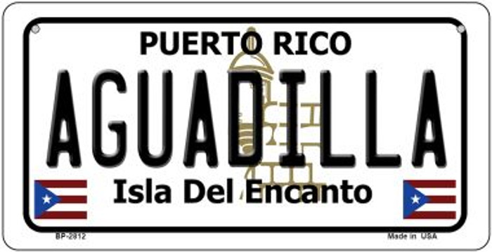 Aguadilla Puerto Rico Novelty Metal Bicycle Plate BP-2812