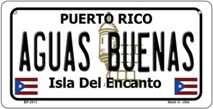 Aguas Buenas Puerto Rico Novelty Metal Bicycle Plate BP-2813
