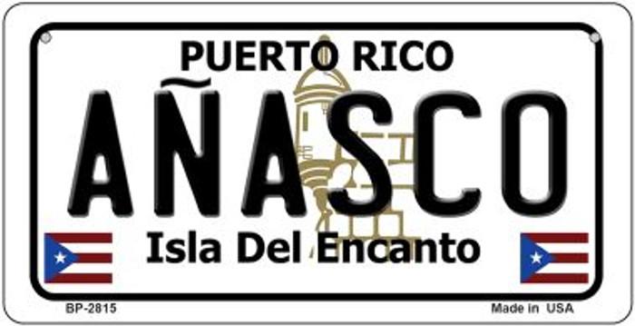 Anasco Puerto Rico Novelty Metal Bicycle Plate BP-2815
