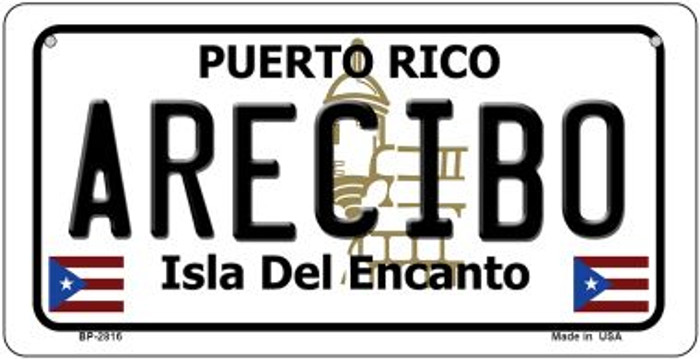 Arecibo Puerto Rico Novelty Metal Bicycle Plate BP-2816