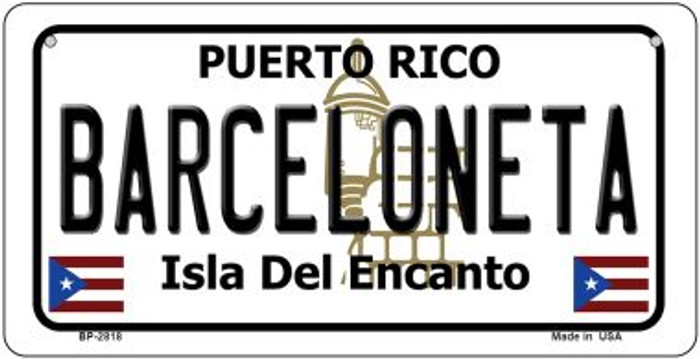 Barceloneta Puerto Rico Novelty Metal Bicycle Plate BP-2818