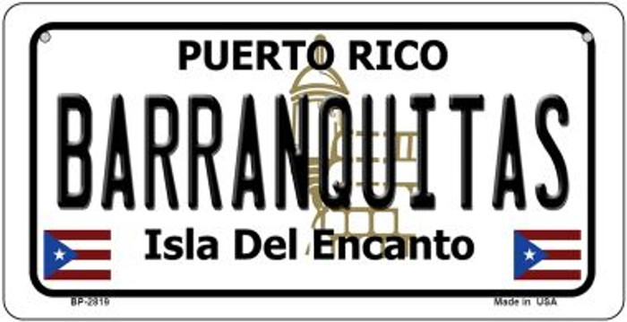Barranquitas Puerto Rico Novelty Metal Bicycle Plate BP-2819