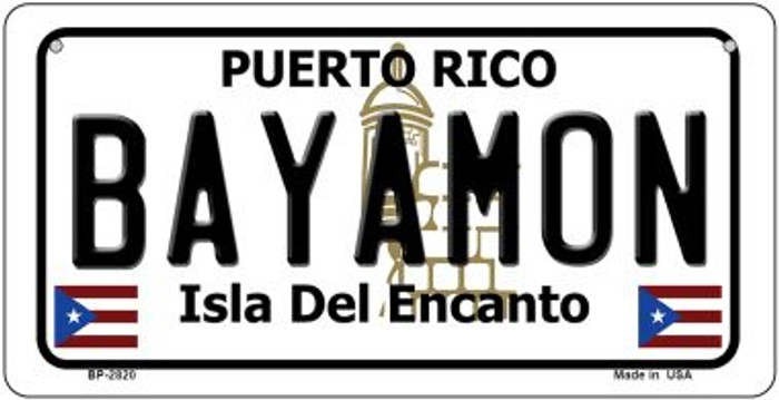 Bayamon Puerto Rico Novelty Metal Bicycle Plate BP-2820