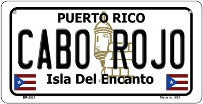 Cabo Rojo Puerto Rico Novelty Metal Bicycle Plate BP-2821