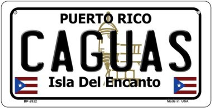Caguas Puerto Rico Novelty Metal Bicycle Plate BP-2822