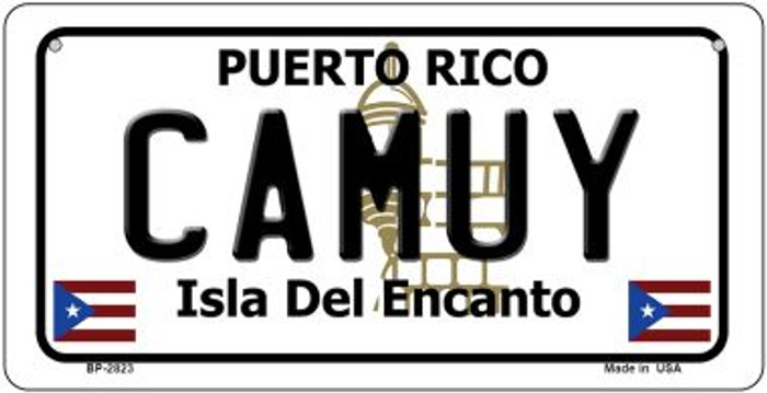 Camuy Puerto Rico Novelty Metal Bicycle Plate BP-2823