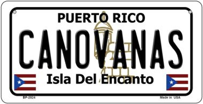 Canovanas Puerto Rico Novelty Metal Bicycle Plate BP-2824