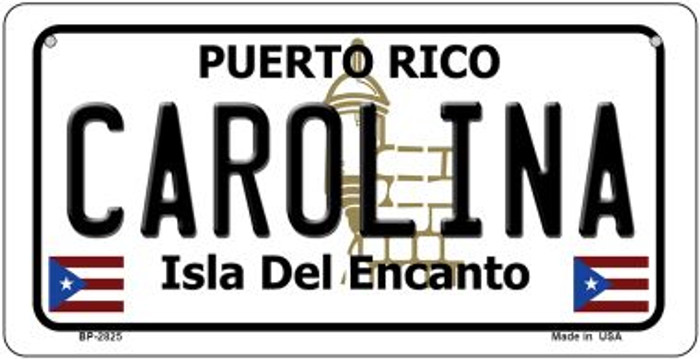 Carolina Puerto Rico Novelty Metal Bicycle Plate BP-2825