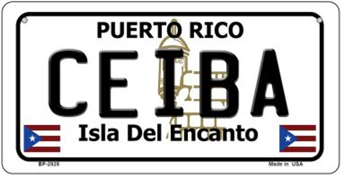 Ceiba Puerto Rico Novelty Metal Bicycle Plate BP-2828