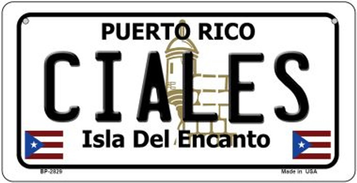 Ciales Puerto Rico Novelty Metal Bicycle Plate BP-2829