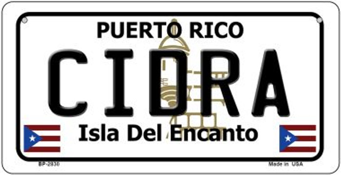 Cidra Puerto Rico Novelty Metal Bicycle Plate BP-2830