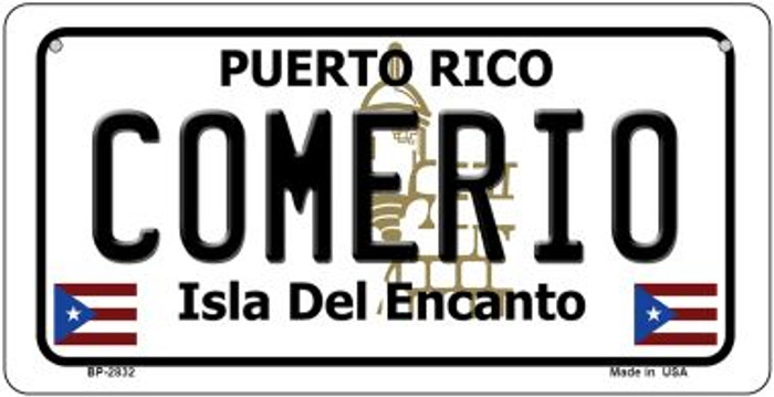 Comerio Puerto Rico Novelty Metal Bicycle Plate BP-2832