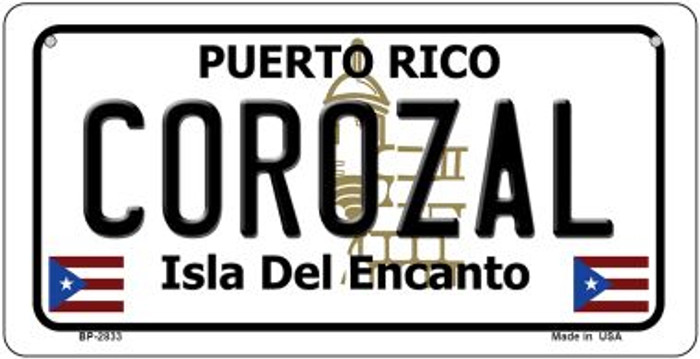 Corozal Puerto Rico Novelty Metal Bicycle Plate BP-2833
