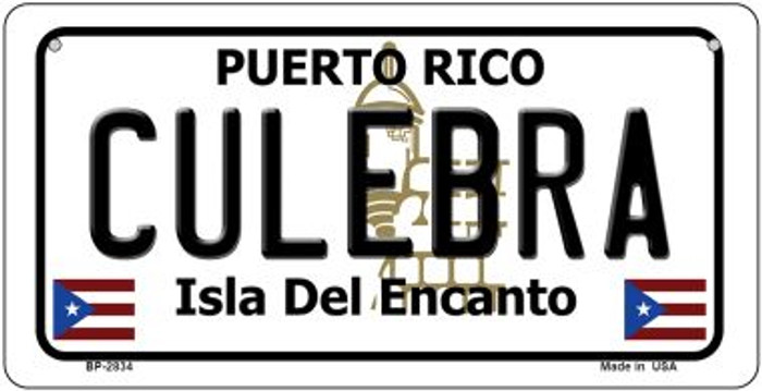Culebra Puerto Rico Novelty Metal Bicycle Plate BP-2834
