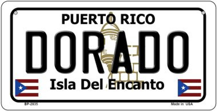 Dorado Puerto Rico Novelty Metal Bicycle Plate BP-2835