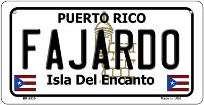 Fajardo Puerto Rico Novelty Metal Bicycle Plate BP-2836