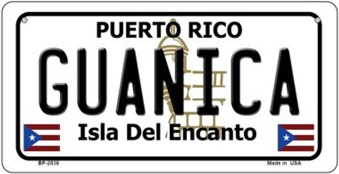 Guanica Puerto Rico Novelty Metal Bicycle Plate BP-2838