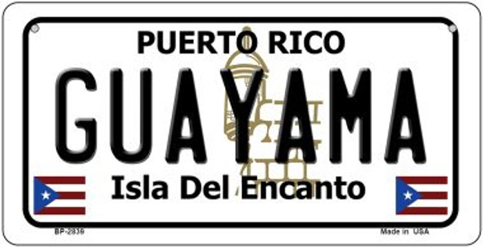 Guayama Puerto Rico Novelty Metal Bicycle Plate BP-2839