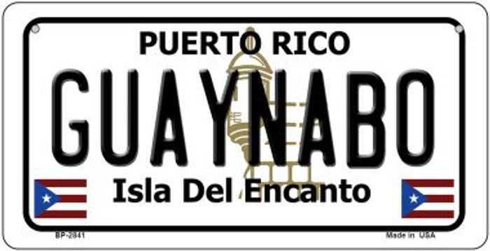 Guaynabo Puerto Rico Novelty Metal Bicycle Plate BP-2841