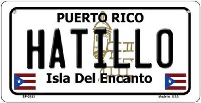 Hatillo Puerto Rico Novelty Metal Bicycle Plate BP-2843