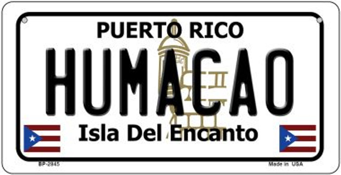 Humacao Puerto Rico Novelty Metal Bicycle Plate BP-2845