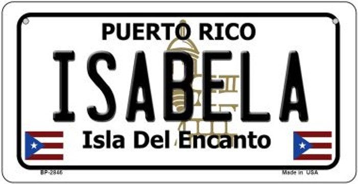 Isabela Puerto Rico Novelty Metal Bicycle Plate BP-2846