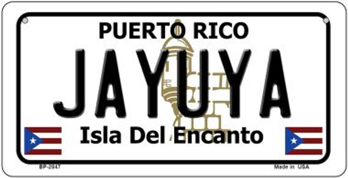 Jayuya Puerto Rico Novelty Metal Bicycle Plate BP-2847