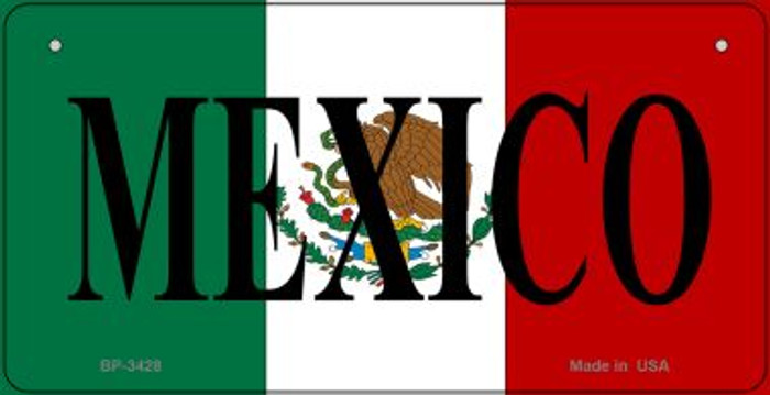 Mexico Flag Novelty Metal Bicycle Plate BP-3428