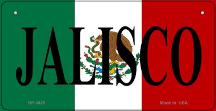 Jalisco Mexico Flag Novelty Metal Bicycle Plate BP-3429