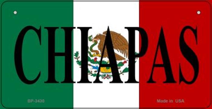 Chiapas Mexico Flag Novelty Metal Bicycle Plate BP-3430
