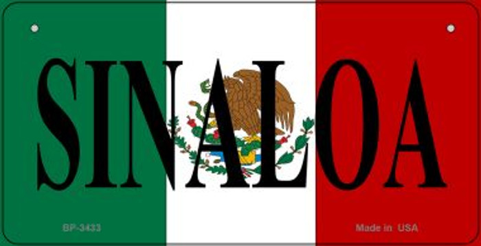 Sinaloa Mexico Flag Novelty Metal Bicycle Plate BP-3433