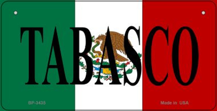 Tabasco Mexico Flag Novelty Metal Bicycle Plate BP-3435