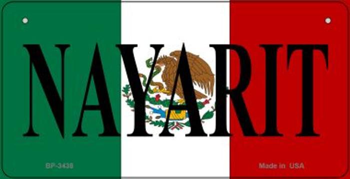 Nayarit Mexico Flag Novelty Metal Bicycle Plate BP-3438