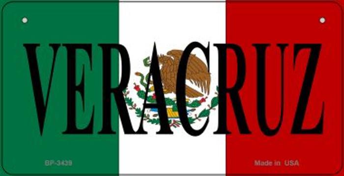 Veracruz Mexico Flag Novelty Metal Bicycle Plate BP-3439