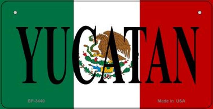Yucatan Mexico Flag Novelty Metal Bicycle Plate BP-3440