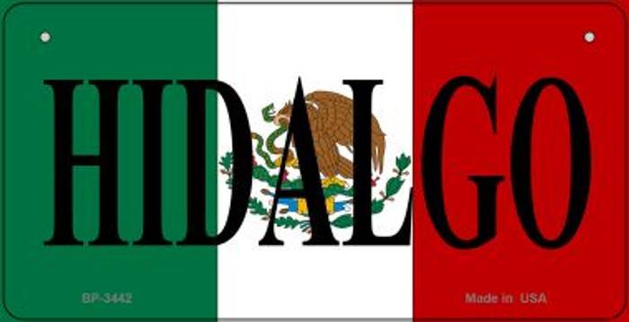 Hidalgo Mexico Flag Novelty Metal Bicycle Plate BP-3442