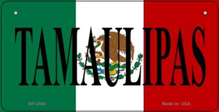 Tamaulipas Mexico Flag Novelty Metal Bicycle Plate BP-3444