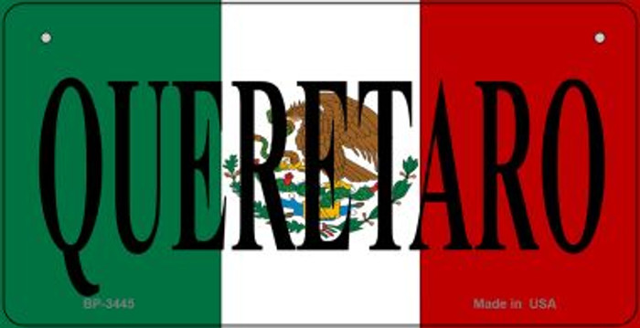 Queretaro Mexico Flag Novelty Metal Bicycle Plate BP-3445