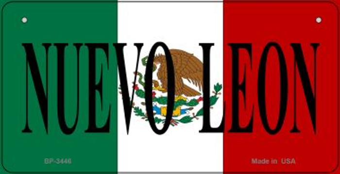Nuevo Leon Mexico Flag Novelty Metal Bicycle Plate BP-3446