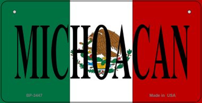 Michoacan Mexico Flag Novelty Metal Bicycle Plate BP-3447